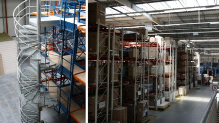 For rent a warehouse with shelves and mezzanines, Kajetany near Nadarzyn