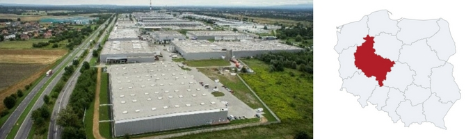 Warehouse Poznan and Piotrkow Trybunalski Poland - Top 5 locations with the lowest rent rates for a warehouse space in Poland