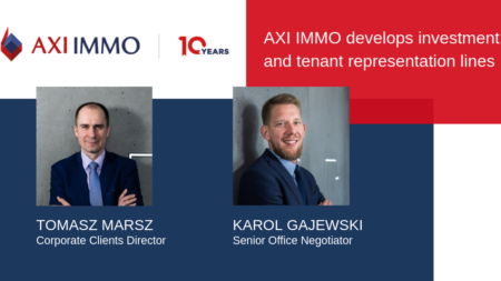 AXI IMMO develops its investment and tenant representation lines